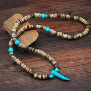 Turquoise Horn Pendant Necklace