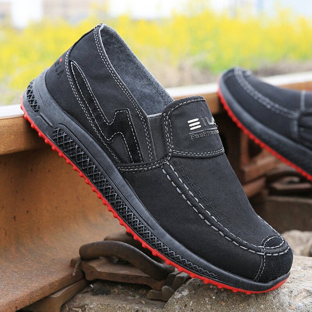 Men Comfy Breathable Slip On Casual Canvas Shoes