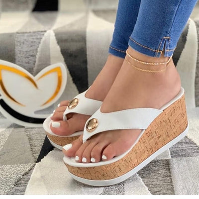 Women's Fashion Slope Heel Slippers