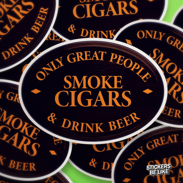 Great People Drink Beer - Bubble-free sticker