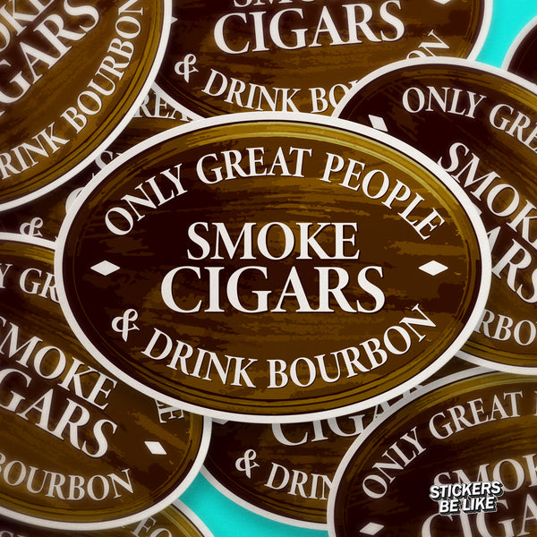 Great People Drink Bourbon - Bubble-free sticker
