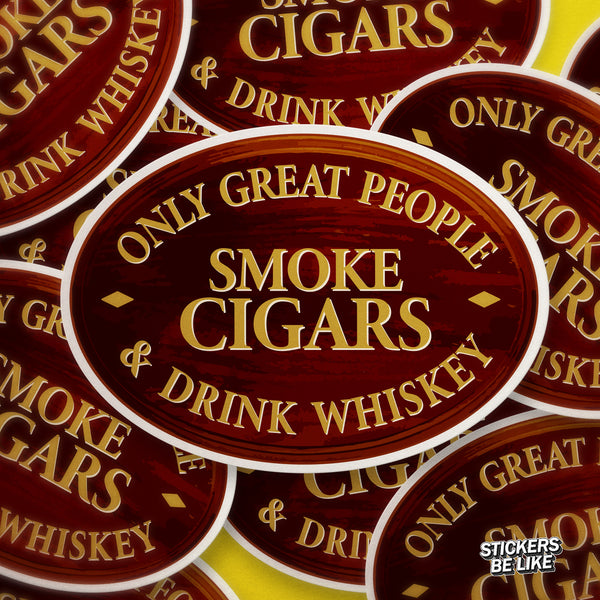 Great People Drink Whiskey - Bubble-free sticker