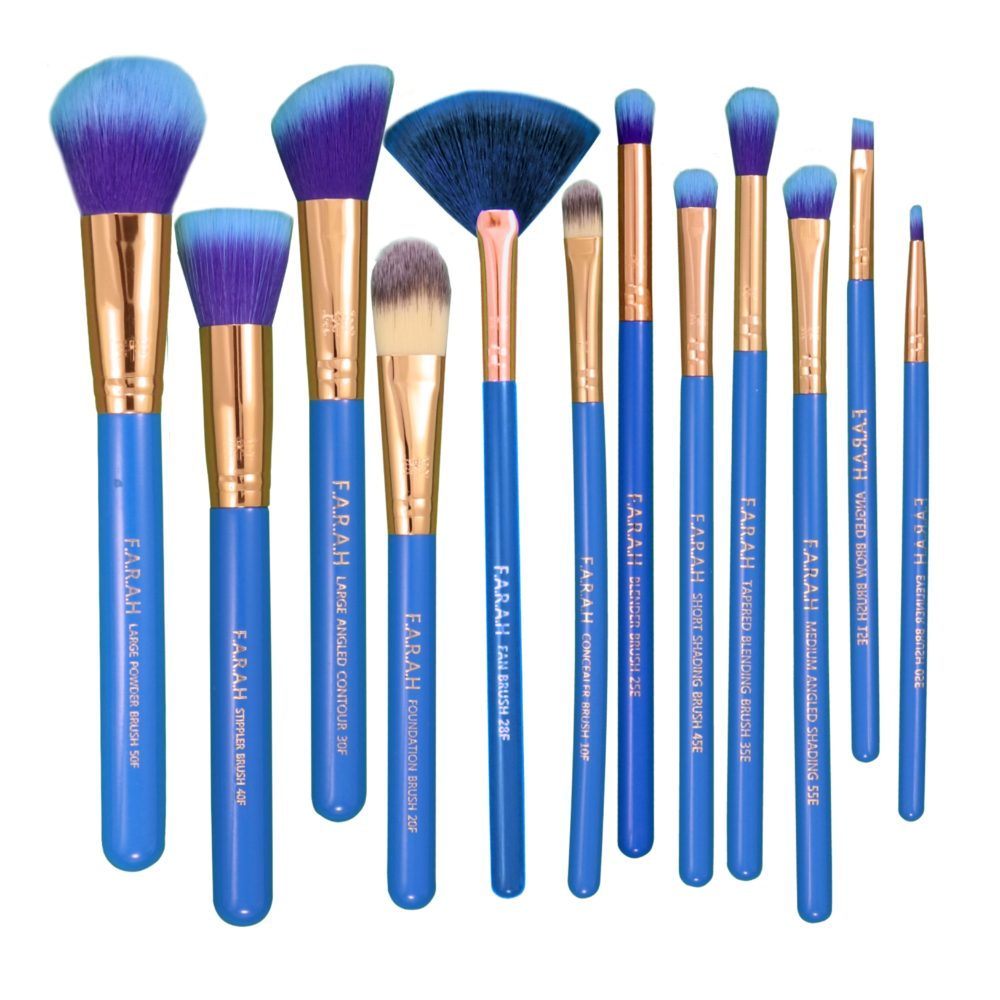 F.A.R.A.H® Timeless Brush Set (12pc) Blue Orchid
