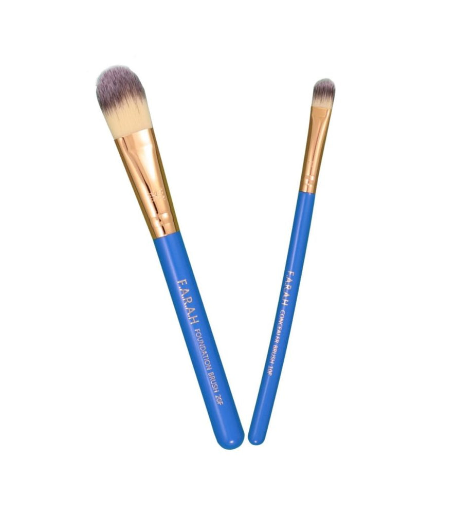 Foundation & Concealer Brush DUO Blue Orchid