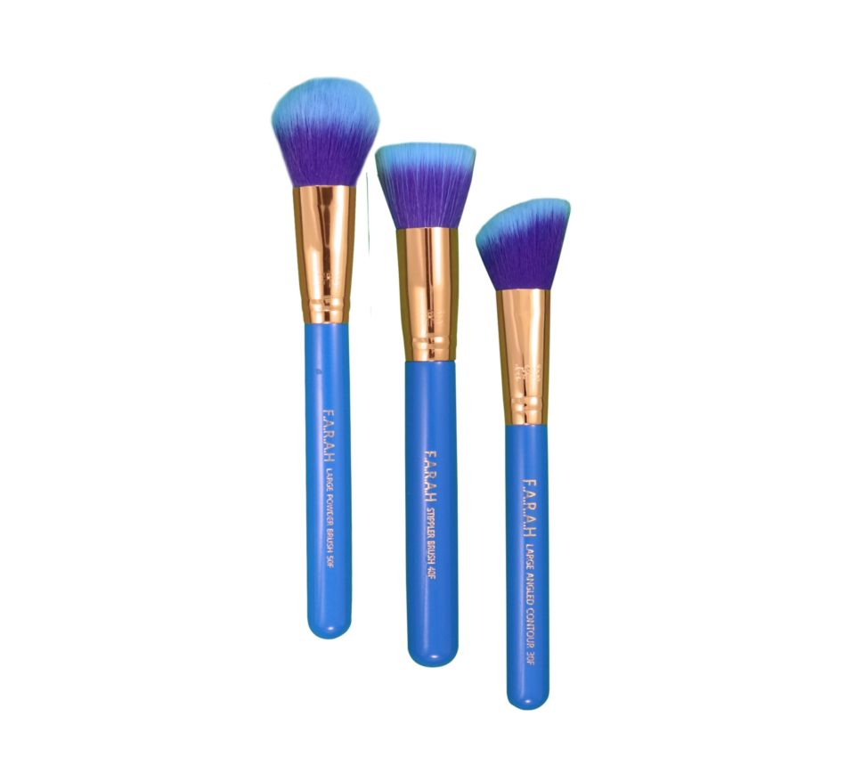 Blue Orchid Face Brush Trio
