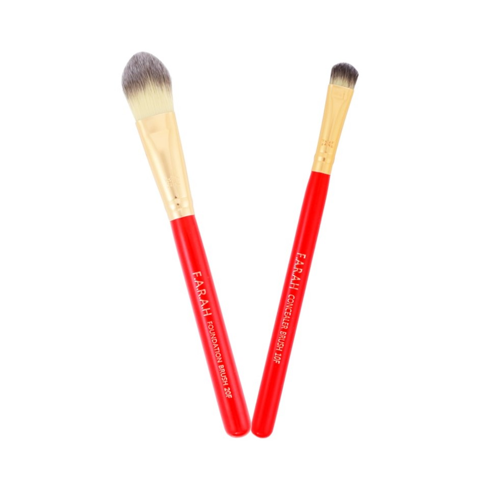 Foundation & Concealer Brush DUO Red Siren