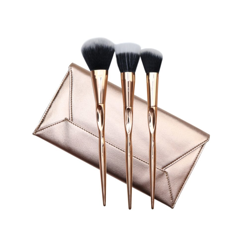 Gold Face Brush Trio