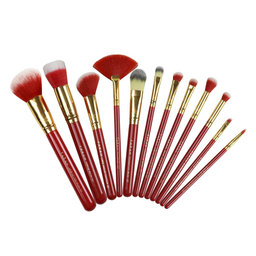 F.A.R.A.H® Timeless Brush Set (12pc) Red Siren