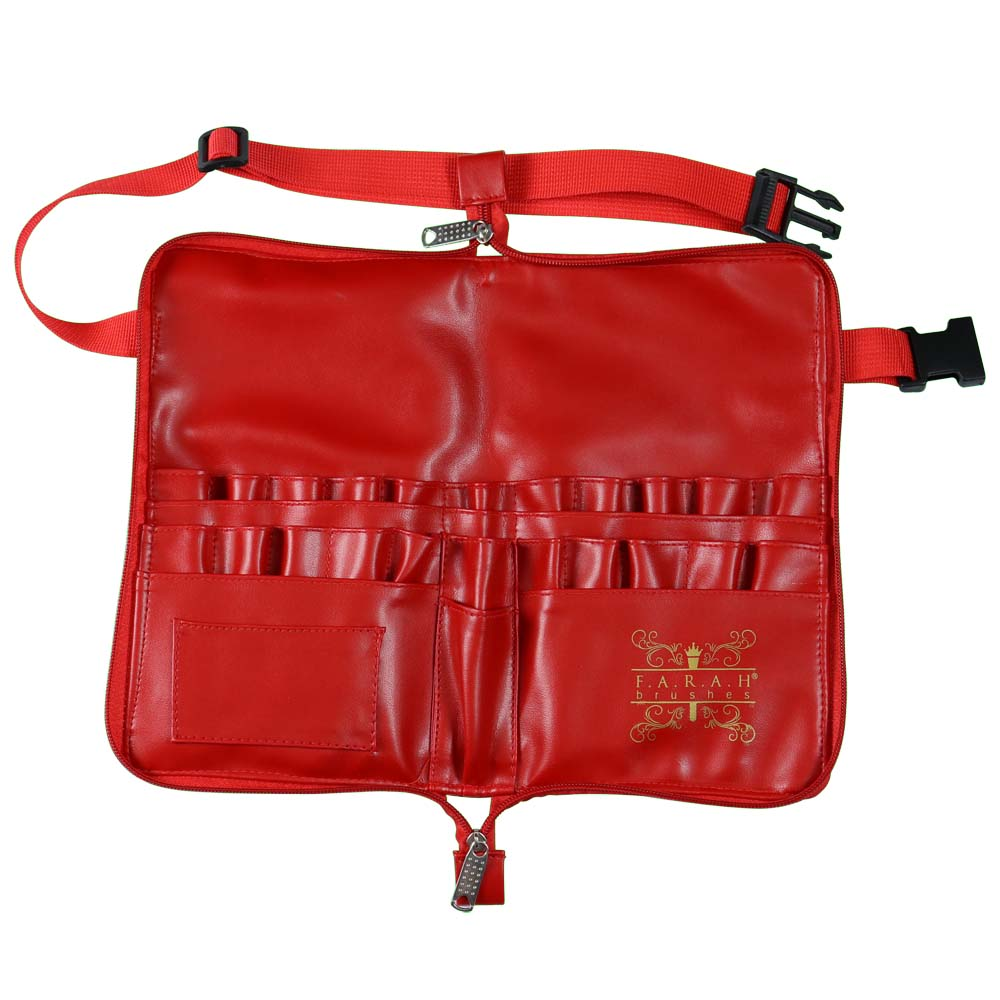 Brush Apron with Zip Closure - Hot Rod Red