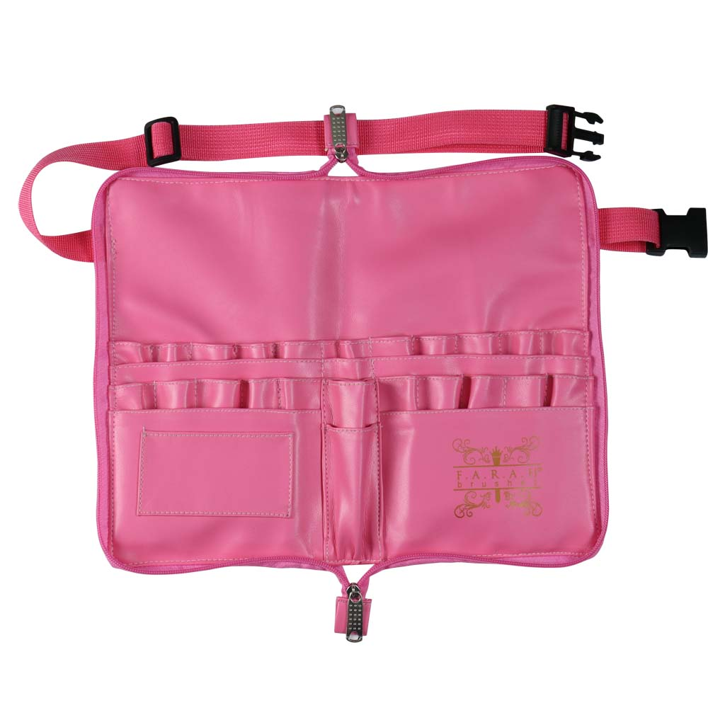 Brush Apron with Zip Closure -Bubblegum Pink