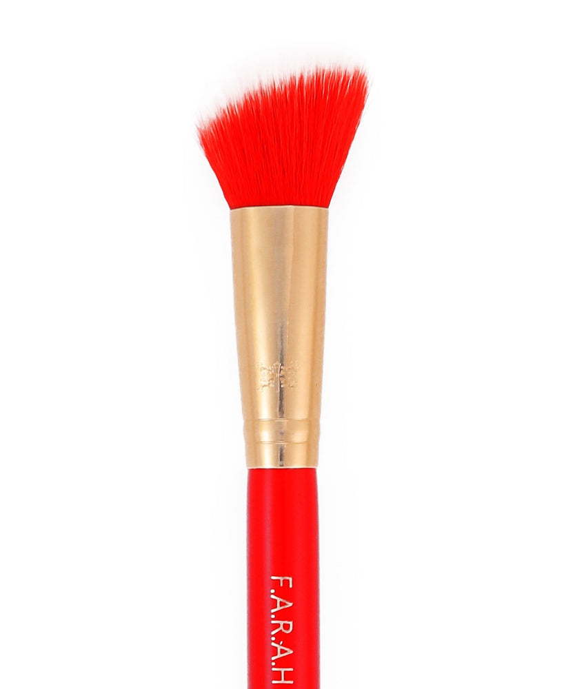 "Large Angled Contour Brush ""Red Siren"" 30F"