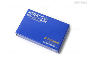 Platinum Permanent Pigmented Blue Ink - 10 Cartridges