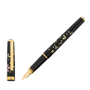 Platinum Maki-e Fountain Pen - Swirling Petals of Cherry Blossom