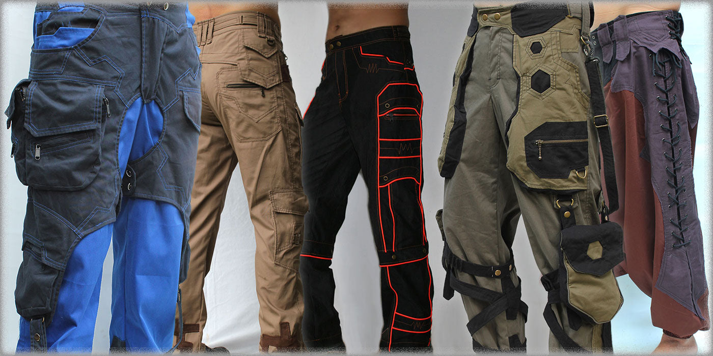 alternative cyber post apocalyptic burning man festival mens pants