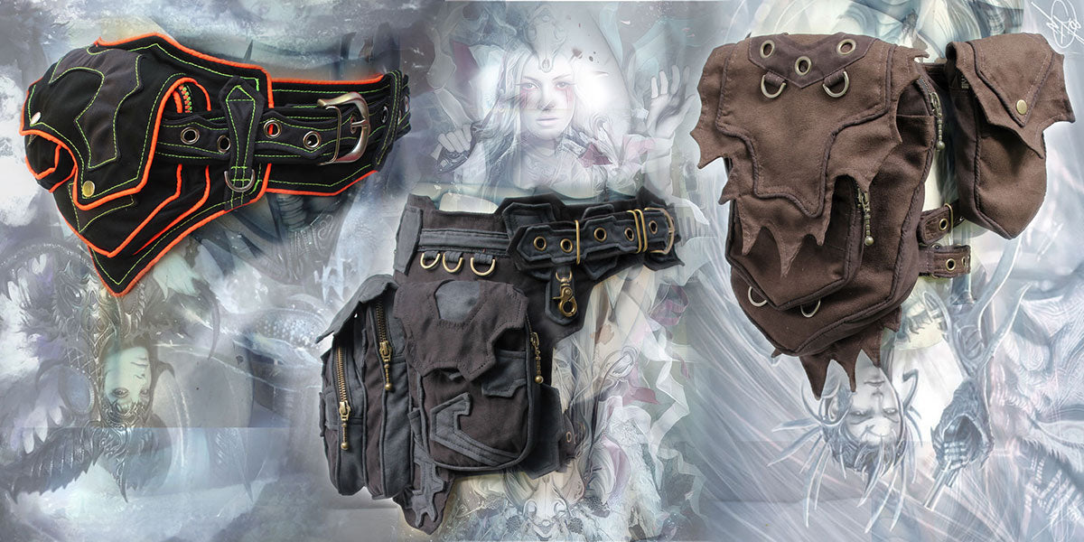 steampunk medieval pocket waist belt bag