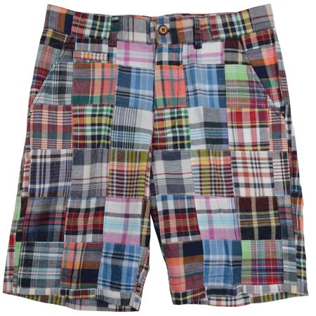 Men's Patch Madras Shorts