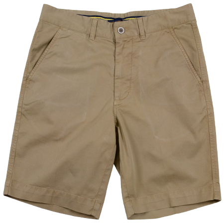 Stretch Twill Flat Front Shorts