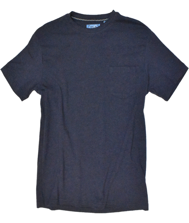 PERFORMANCE HEATHER CREW NECK POCKET TEE