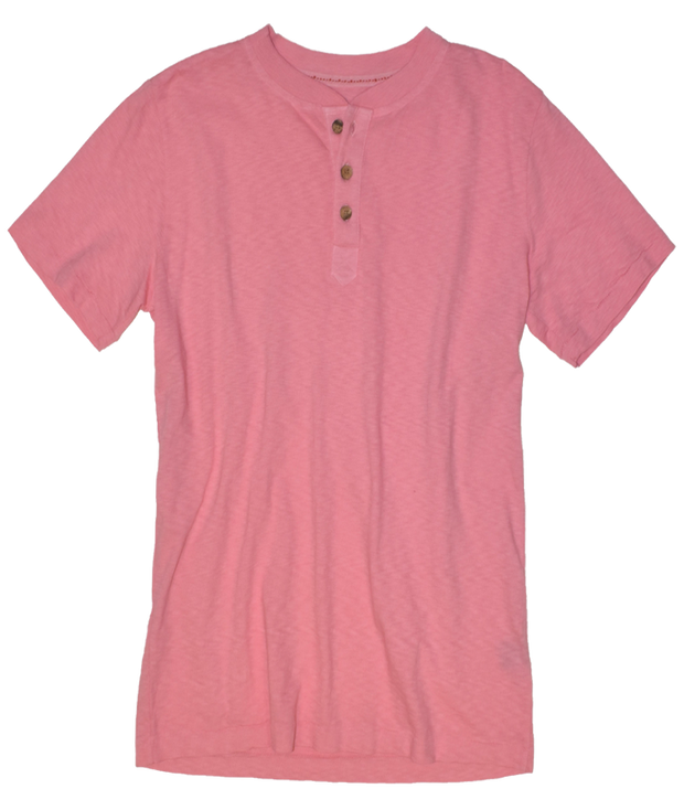 Garment Dyed Short Sleeve Henley