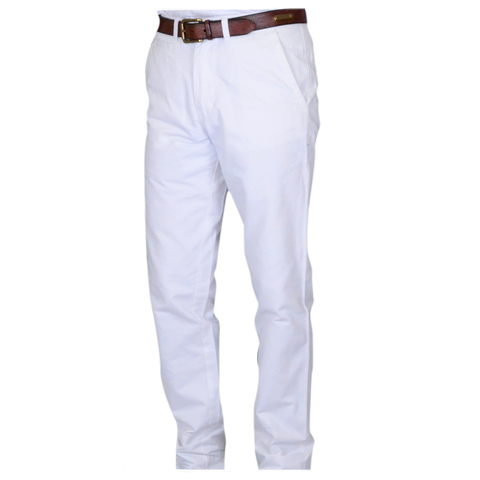 Military Twill<br>Trim Fit<br>White