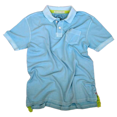 Retro Stretch Polo<br>Lt Blue