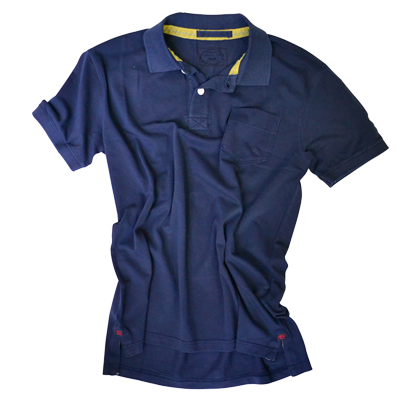 Retro Stretch Polo<br>Navy