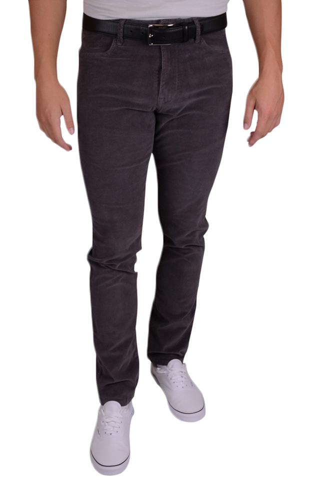 Stretch Corduroy<br>Charcoal