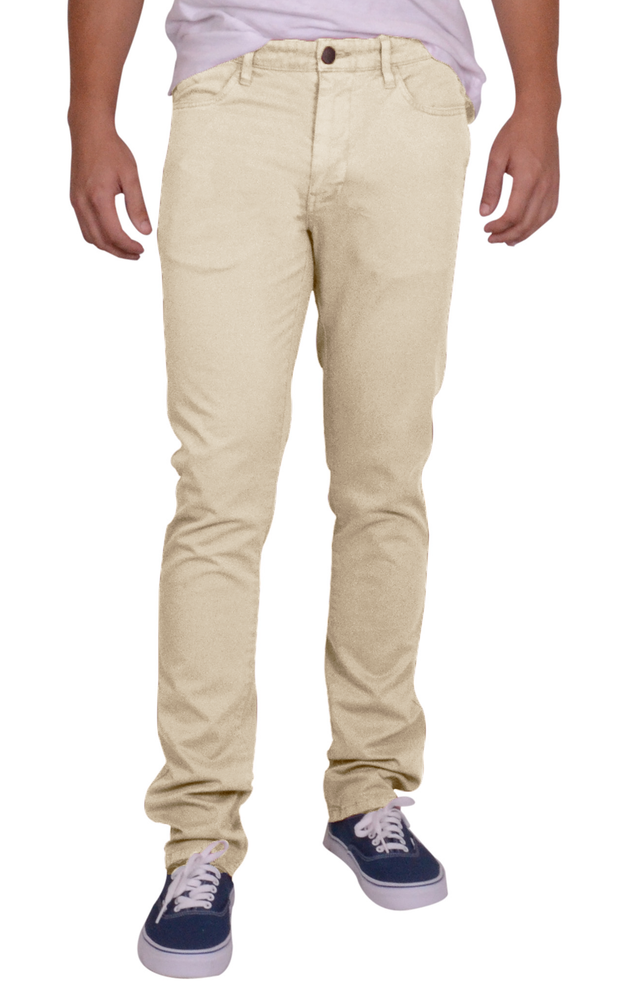 Sunny Stretch Compact Twill<br>5 Pocket, Modern Fit<br>Stone