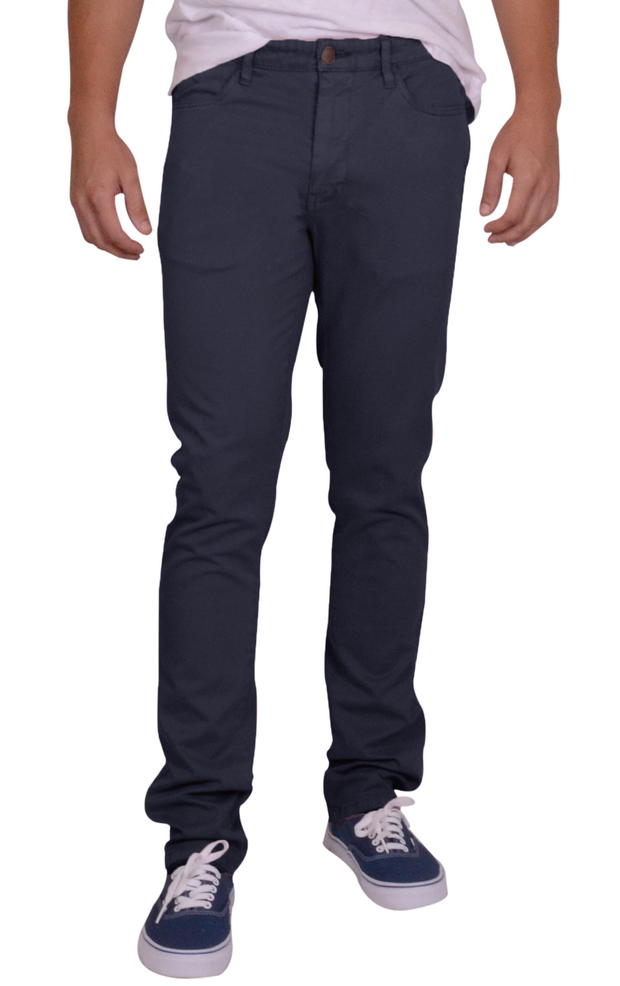 Sunny Stretch Compact Twill<br>5 Pocket, Modern Fit<br>Navy