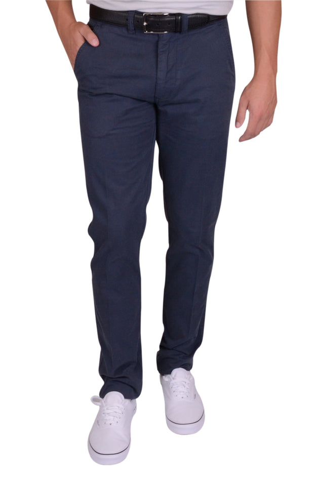 Sunny Stretch Compact Twill<br>Flat Front, Modern Fit<br>Navy