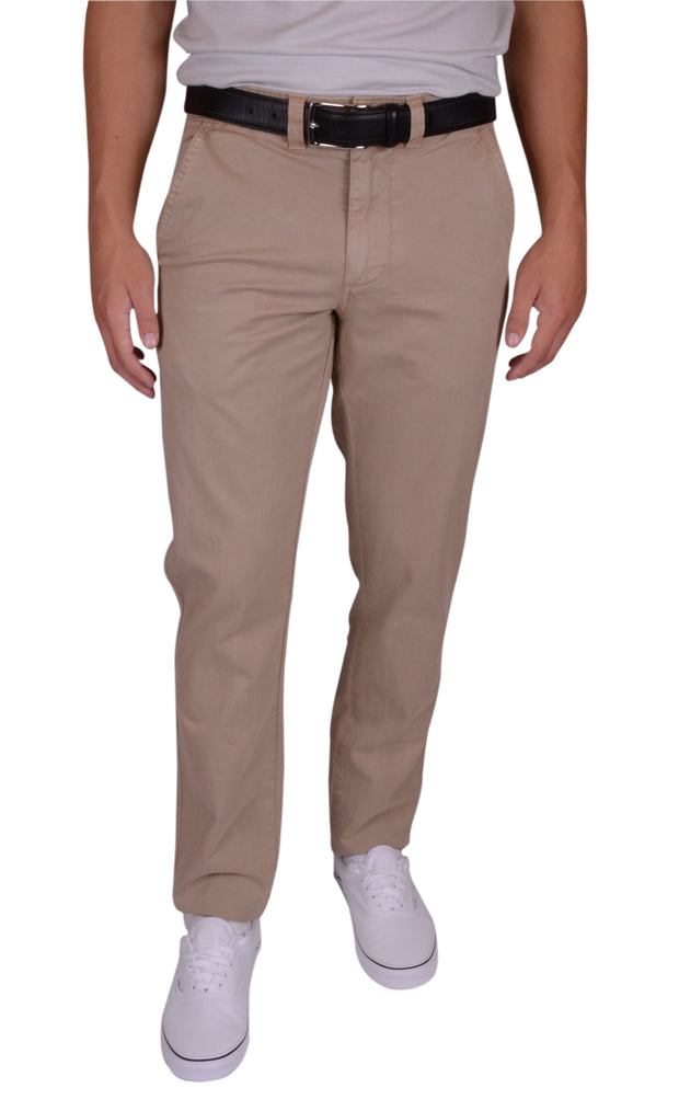 Sunny Stretch Compact Twill<br>Flat Front, Modern Fit<br>Khaki