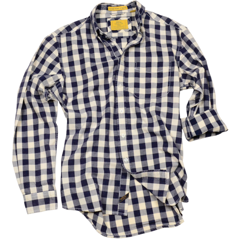 Oxford Washed Gingham<br> Navy