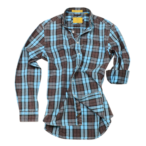 Oxford Washed Plaid<br> Citadel Blue