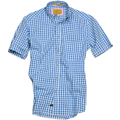 Summer Oxford<br>Short Sleeve<br>Sky
