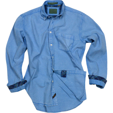 Solid Oxford Shirt<br>Nautical Blue