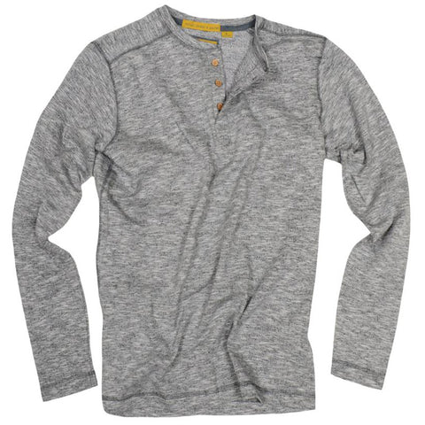 Heathered Terry Henley<br>Light Grey