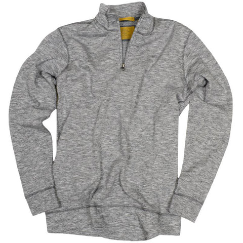 Heathered Terry Qzip<br>Light Grey