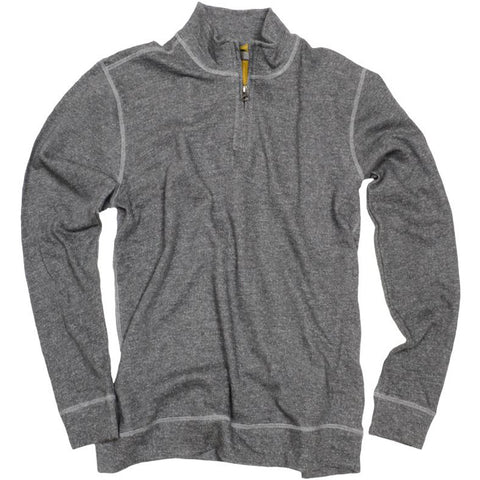 Heathered Terry Qzip<br>Charcoal
