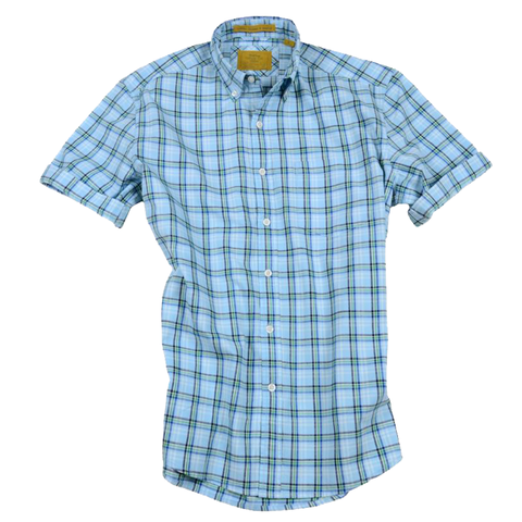 Summer Oxford<br>Short Sleeve<br>Blue