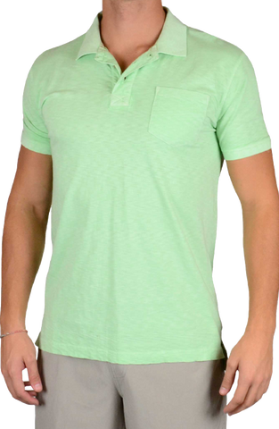 Negative Slub Polo<br>Pantina Green