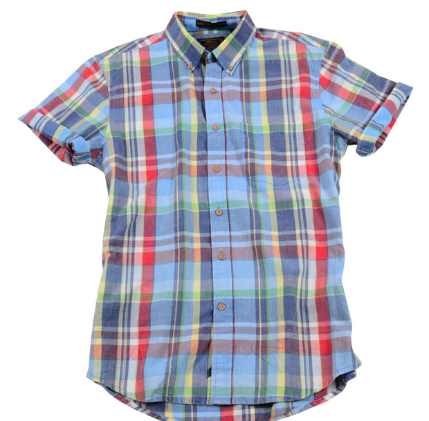 Authentic Madras Woven<br>Lt. Blue Multi