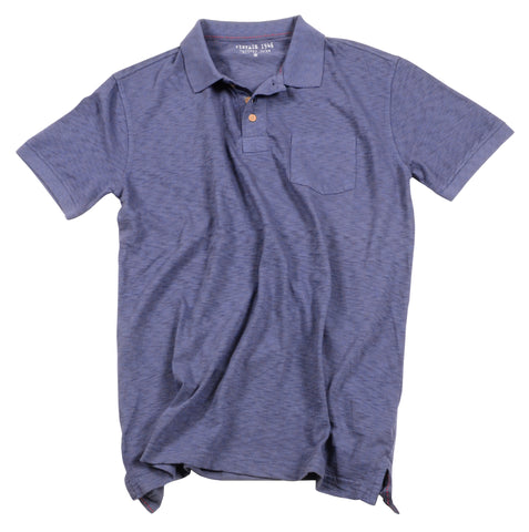 Negative Slub Polo<br>Indigo