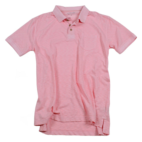 Negative Slub Polo<br>Coral Blush