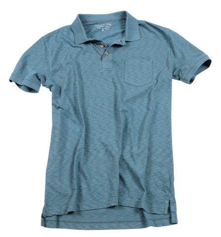 Negative Slub Polo<br>Smoke Blue
