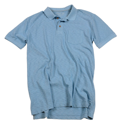 Negative Slub Polo<br>Sky Blue