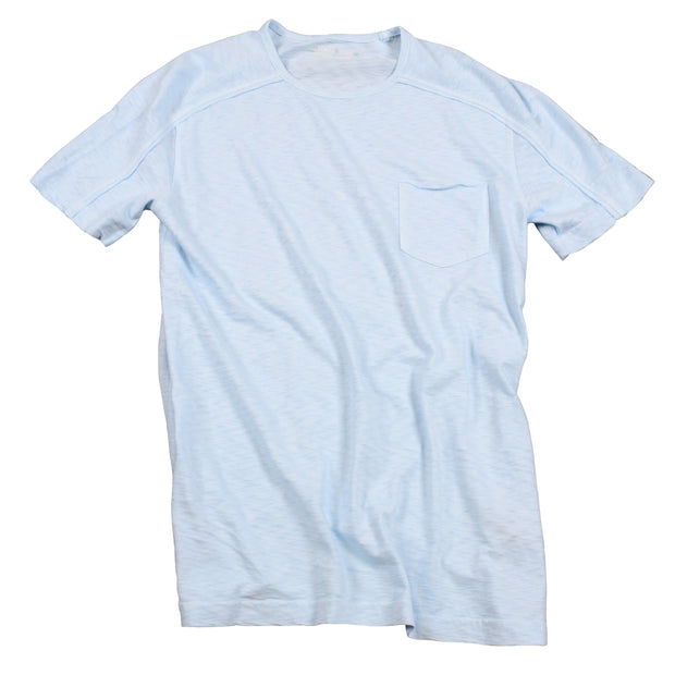 Negative Slub Crew Neck<br>Baby Blue