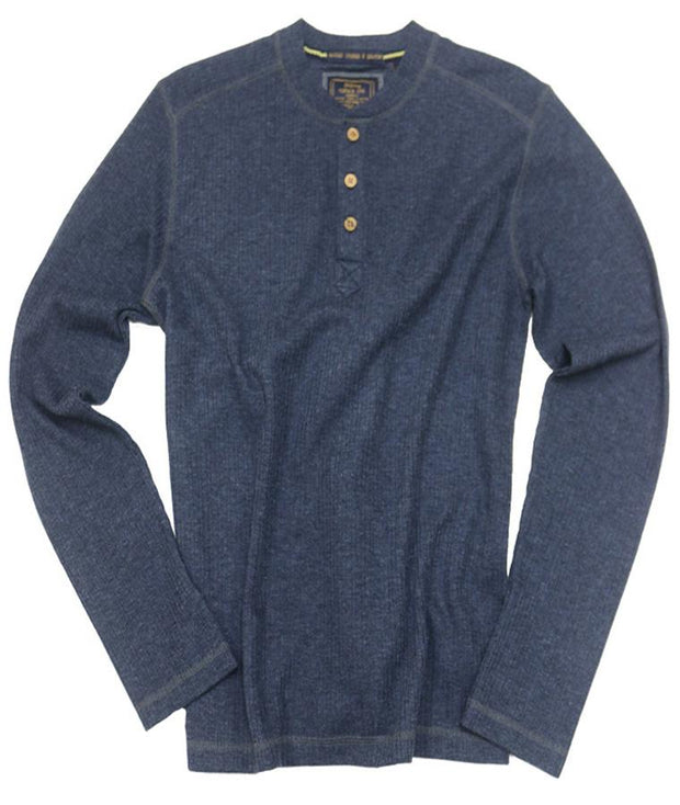 Drop Needle Henley<br>Navy