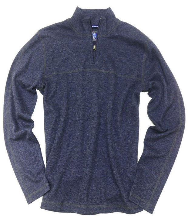 Drop Needle Quarter Zip<br>Navy