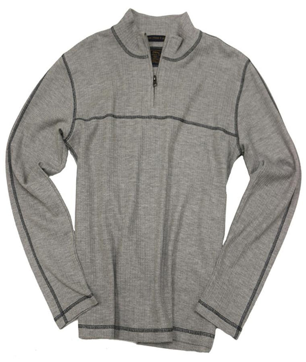 Drop Needle Quarter Zip<br>Light Grey