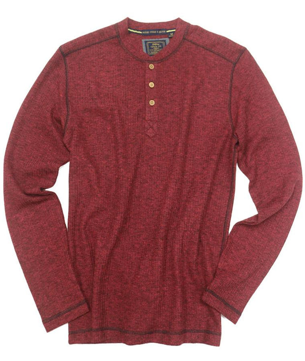 Drop Needle Henley<br>Molten Lava